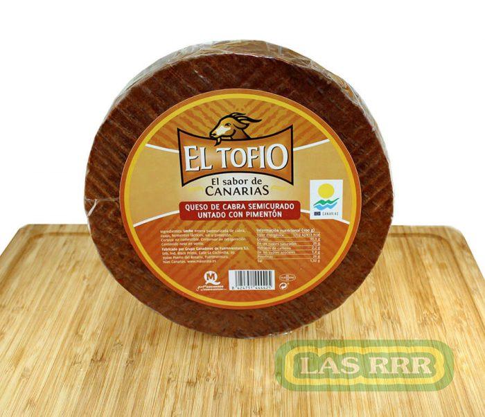 Queso de Cabra Semicurado Untado con Pimentón El Tofio - Las RRR